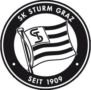Bild zeigt das Logo des Grazer Fußballlclubs SK Sturm Graz.